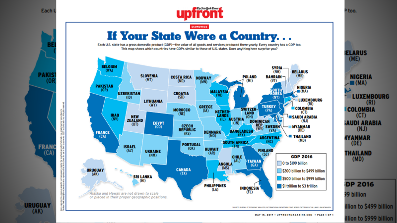 Map: If your state were a country… | On Our Minds